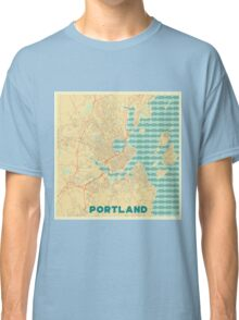 Portland Map Retro Classic T-Shirt