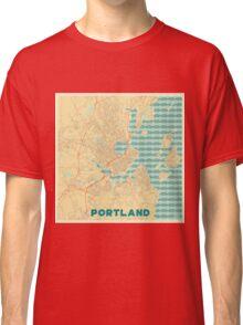Portland Map Retro Classic T-Shirt