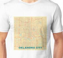 Oklahoma City Map Retro Unisex T-Shirt