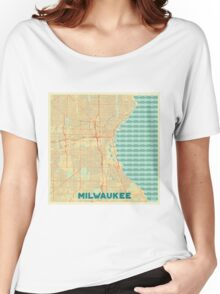 Milwaukee Map Retro Women's Relaxed Fit T-Shirt