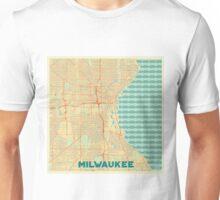 Milwaukee Map Retro Unisex T-Shirt
