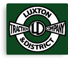 Luxton & District Traction Company Logo (On The Buses) Canvas Print