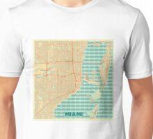 Miami Map Retro Unisex T-Shirt
