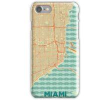 Miami Map Retro iPhone Case/Skin