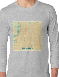 Memphis Map Retro Long Sleeve T-Shirt