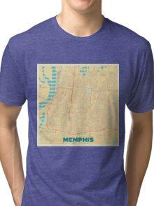 Memphis Map Retro Tri-blend T-Shirt