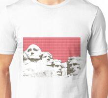 Mount Rushmore - Red Unisex T-Shirt
