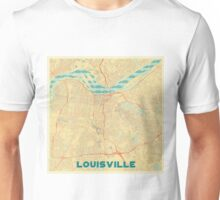 Louisville Map Retro Unisex T-Shirt