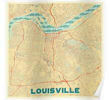 Louisville Map Retro Poster