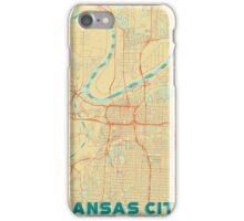 Kansas City Map Retro iPhone Case/Skin