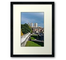 City of York postcard view. Framed Print