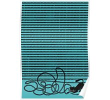 Unravel (in Blue) Poster