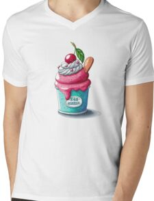 Cherry ice cream cup Mens V-Neck T-Shirt