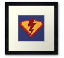 Superhero rising Framed Print
