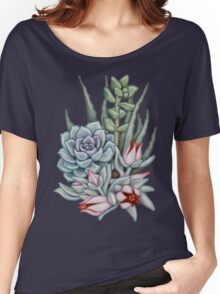 Midnight Succulents Women's Relaxed Fit T-Shirt