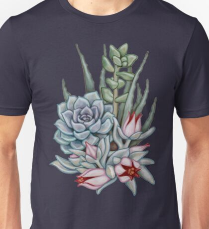 Midnight Succulents Unisex T-Shirt