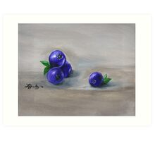 Blueberry Still Life Art Print