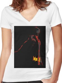 BigDaddy Women's Fitted V-Neck T-Shirt