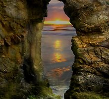 Perranporth Keyhole Sunset, Cornwall, UK ~ Atlantic Coast by Debra  Jayne