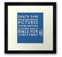 Facebook Santa Framed Print