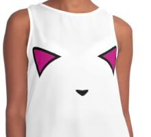 Invisible Pink Meow Contrast Tank