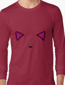 Invisible Pink Meow Long Sleeve T-Shirt