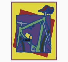 BICYCLE ABSTRACT; Whimsical Print Kids Tee