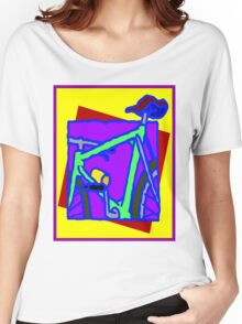 BICYCLE ABSTRACT; Whimsical Print Women's Relaxed Fit T-Shirt