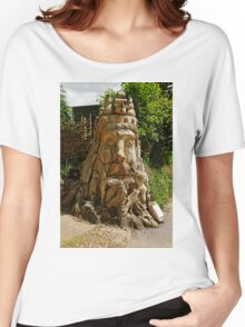 Dead Tree Carving of Neptune Sea God Women's Relaxed Fit T-Shirt