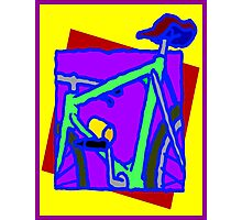 BICYCLE ABSTRACT; Whimsical Print Photographic Print