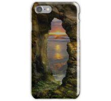 Perranporth Keyhole Sunset, Cornwall, UK ~ Atlantic Coast iPhone Case/Skin