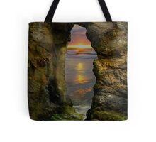 Perranporth Keyhole Sunset, Cornwall, UK ~ Atlantic Coast Tote Bag