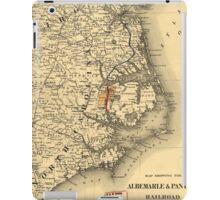 Vintage Map of The North Carolina Coast (1887) iPad Case/Skin