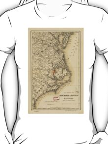 Vintage Map of The North Carolina Coast (1887) T-Shirt