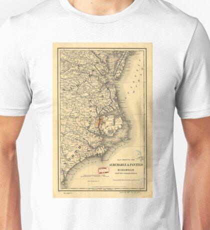 Vintage Map of The North Carolina Coast (1887) Unisex T-Shirt