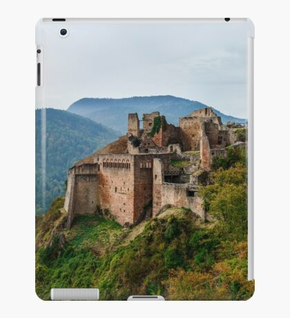 Majestic medieval castle  Saint-Ulrich on the top of the hill, Alsace, France iPad Case/Skin
