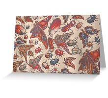 Vintage Insects Greeting Card
