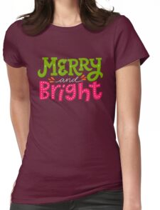 Merry and Bright Womens Fitted T-Shirt