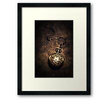 Ornamented pocket watch Framed Print