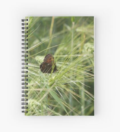 The butterfly among the spikelets Spiral Notebook