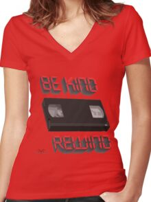 Be Kind Rewind Ver. 9 Women's Fitted V-Neck T-Shirt