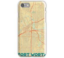 Fort Worth Map Retro iPhone Case/Skin