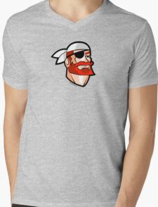 Redbeard the Pirate: Portrait of a Scallywag In A Bandana Mens V-Neck T-Shirt