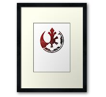 star wars Rebels vs empire Framed Print