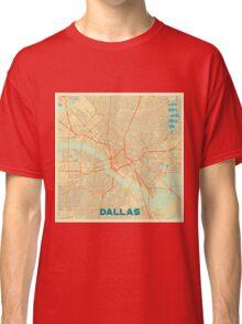 Dallas Map Retro Classic T-Shirt