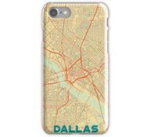 Dallas Map Retro iPhone Case/Skin
