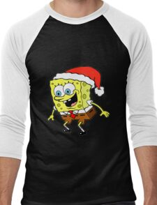 Spongebob Christmas Men's Baseball ¾ T-Shirt