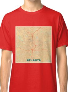 Atlanta Map Retro Classic T-Shirt