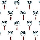 Panda Nerd (Pattern) by Adamzworld