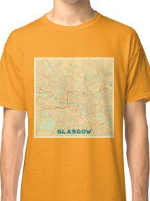 Glasgow Map Retro Classic T-Shirt